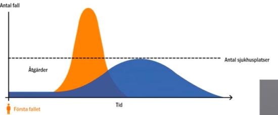 Tegnell: Mycket talar för att vi följer den flacka kurvan