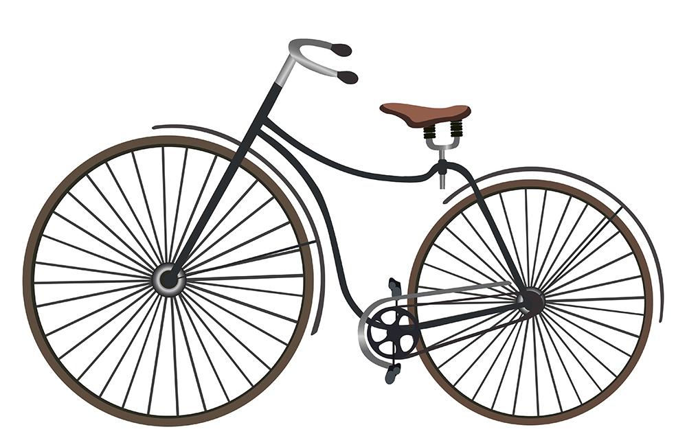 En Rover Safety Bike från 1885.Illustration: Colourbox
