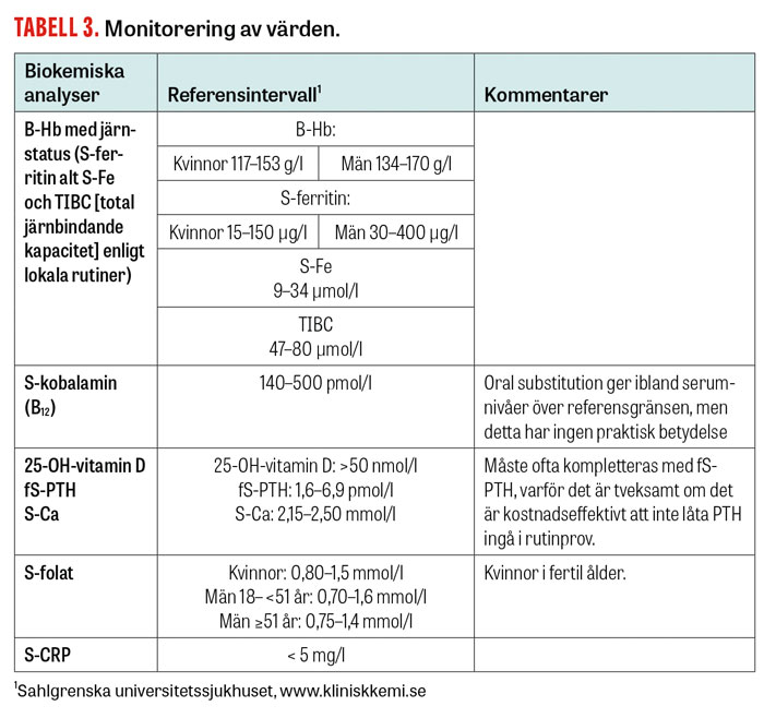 Tabell 3