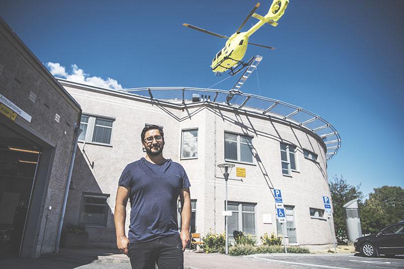 Christian Barrientos, enhetschef för akuten på Norrtälje sjukhus och upphovsman till snabbspåret för patienter över 80 år på sjukhuset. Foto:Carolina Byrmo
