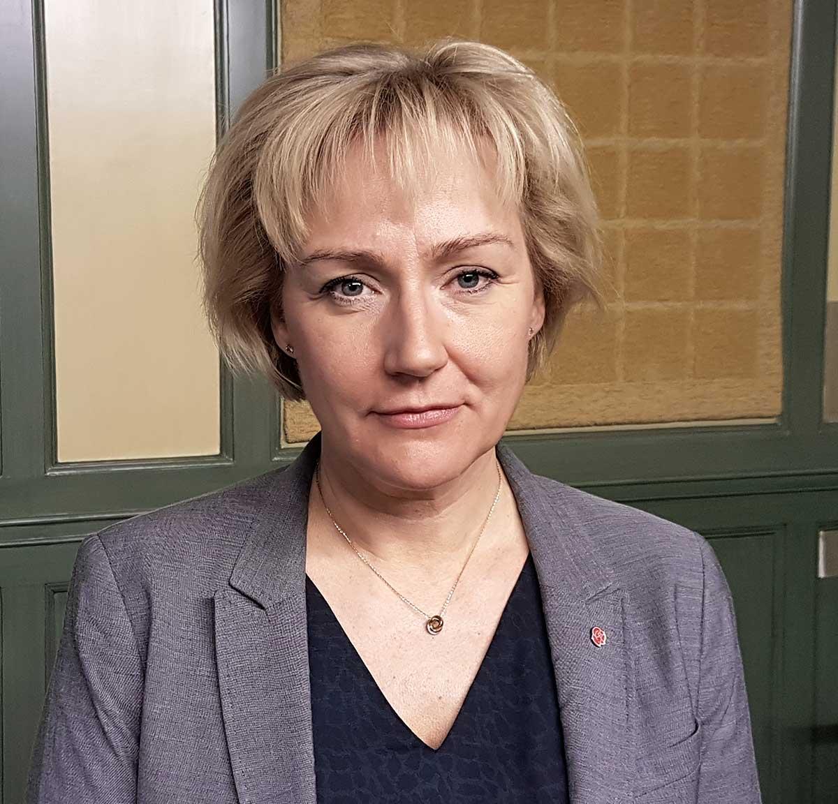 Helene Hellmark Knutsson (S),minister för högre utbildning och forskning. Foto: Katrin Trysell