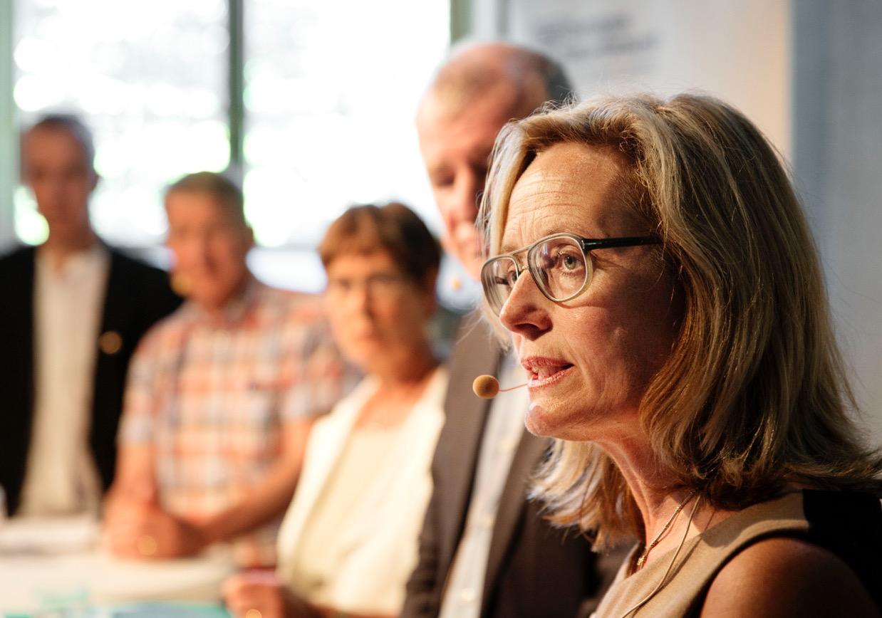 – Att 50 procent av vårdcentralerna inte är fullbemannade är ett jättebekymmer för en jämlik vård, sa statssekreterareAgneta Carlsson. Foto: Ola Torkelsson