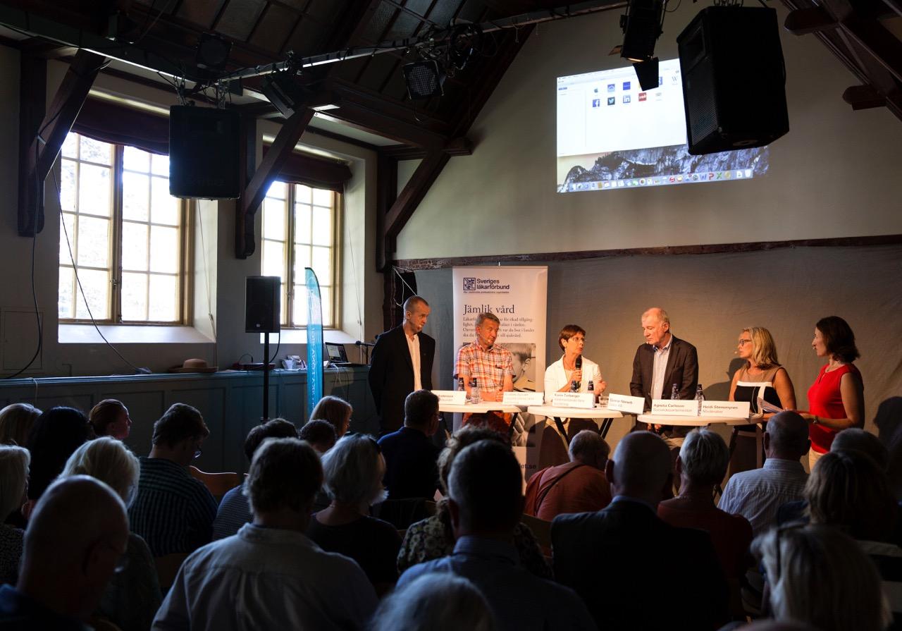 Ove Andersson, Anders Sylwan, Karin Toberger, Gunnar Németh, Agneta Carlsson och Heidi Stensmyren. Foto: Ola Torkelsson