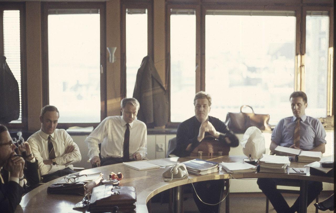 Läkarförbundets förhandlingsdelegation leddes av ordföranden Osborne Bartley (tvåa från höger). Foto: Mats Asztély