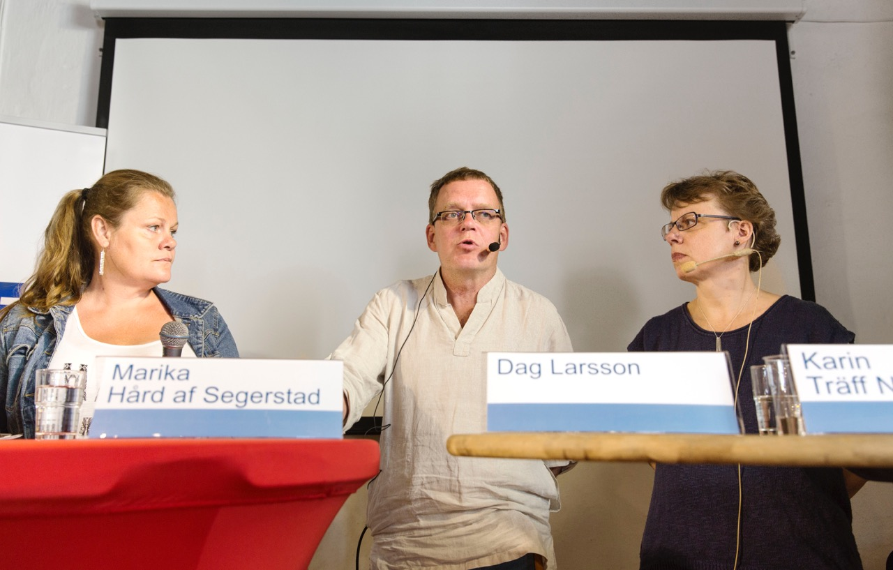 Marika Hård af Segerstad, Dag Larsson och Karin Träff Nordström. Foto: Ola Torkelsson