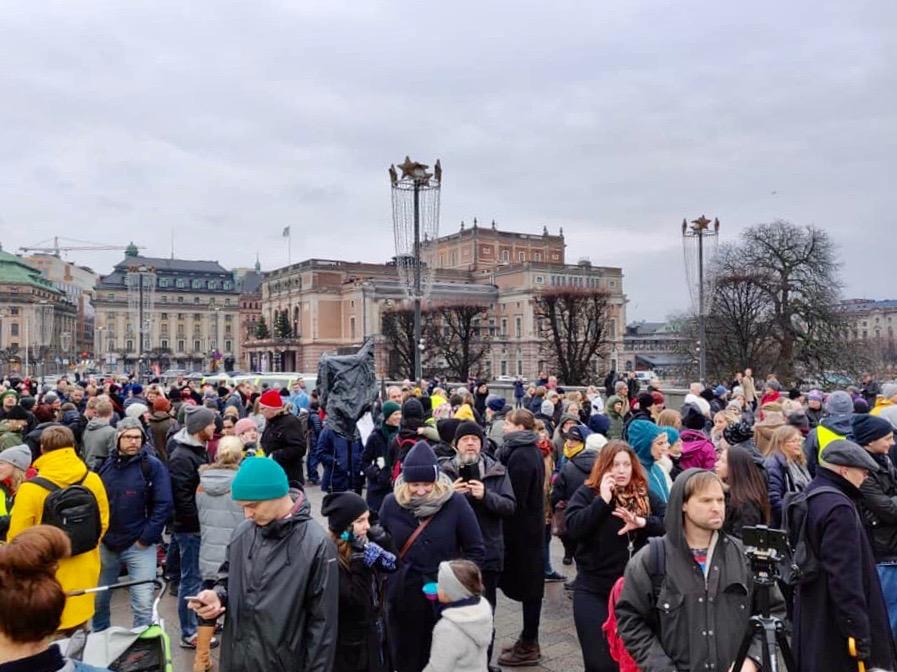 Polisen uppskattade att närmare 3 000 personer besökte manifestationen i Stockholm. Foto: Linda Svedberg