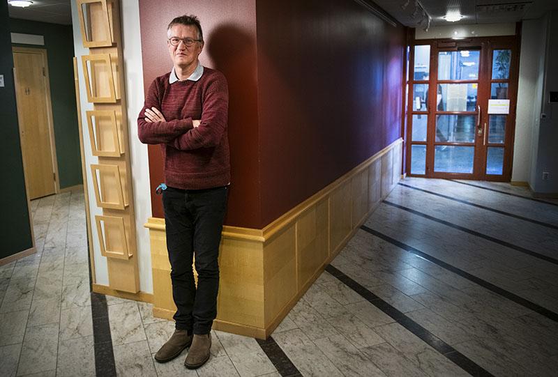 Anders Tegnell på Folkhälsomyndighetens kontor i Solna, just hemkommen från en vecka i Kongo – ditbjuden för att få veta mer om landets varningssystem för epidemier. Foto:Anders G Warne