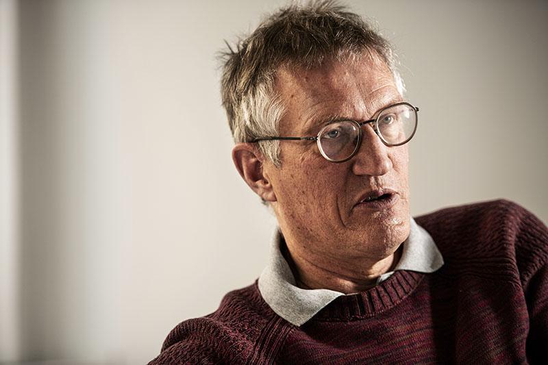 Statsepidemiolog Anders Tegnell i fokus. Foto:Anders G Warne