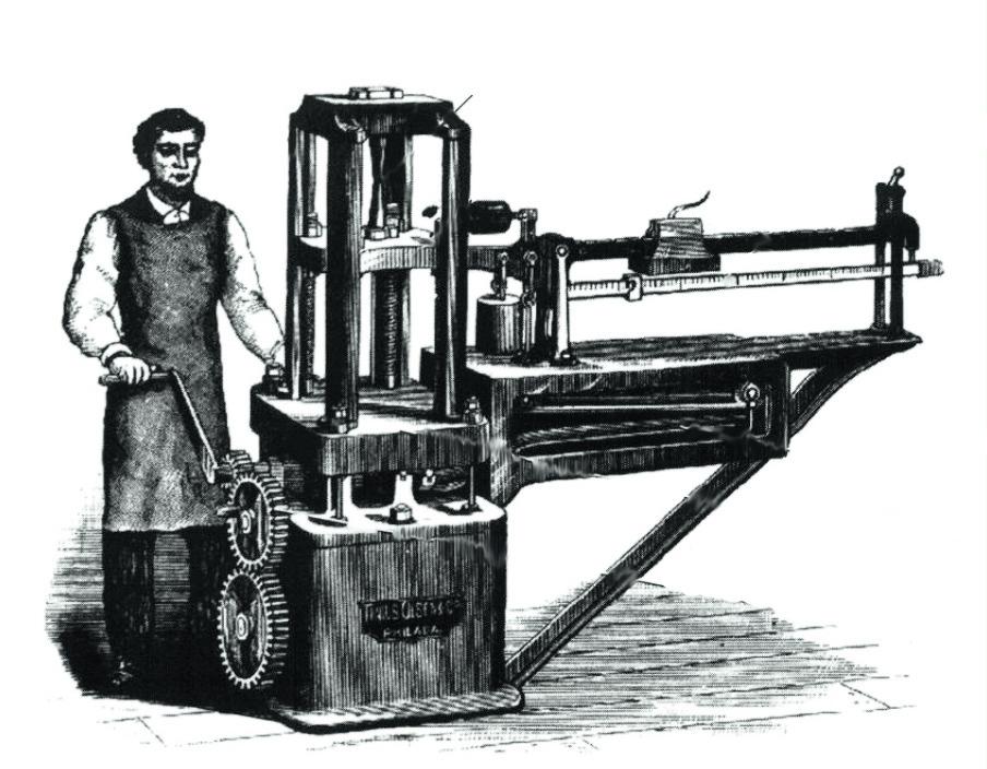 Charlotte Yhlen finansierade uppfinningen «The Little Giant«, en materialtestare som gav hennes make, Tinius Olsen, världsrykte och rikedom.