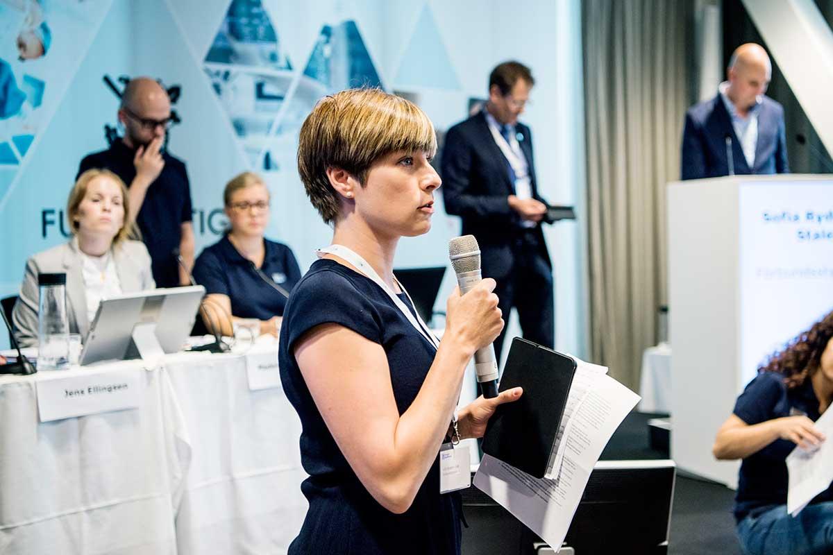 »Vi måste göra om och göra rätt«, saSofia Rydgren Stale från förbundsstyrelsen. Foto: Carolina Byrmo